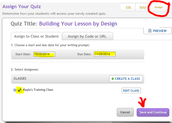 Quiz Builder - Assigning to Students