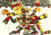 The Aztec war god Huitzilopochtli