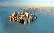 Climate change rise in sea level.