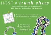 Loving all the new fall line? I'd love to do a trunk show for you, and help you get to shop for FREE and Half Off!