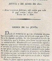 Primer Ejemplar de la Gazeta de Buenos Aires 7.6.1810