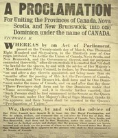 A Newspaper article stating the development of the British North American Act