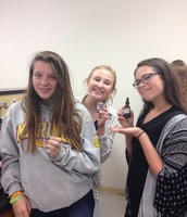 Biology students working on a lab!