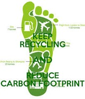 KEEP RECYCLING AND REDUCE CABON FOOTPRINT