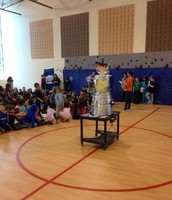 Reading Rewards trophy and assembly