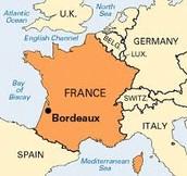 La carte de Bordeaux