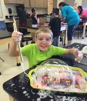 Bubble Fun in Second Grade!