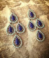 SOLD! Seychelles Chandeliers - blue