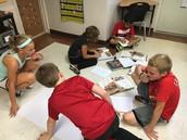 5th grade working hard