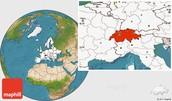 Switzerland's Location