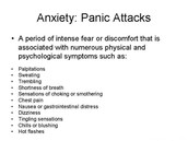What are some of the symptoms of Anxiety?
