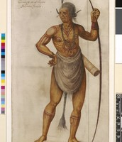 Painting made by John White of Roanoke Indian