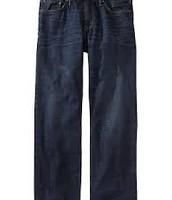 Jeans flojo oscuro algodón
