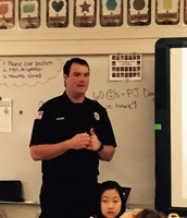 Fireman John Visits Kipling 2nd Grade