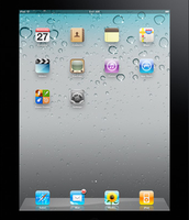 Double Tap the Home Button on your IPad.