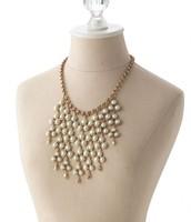 Daliah Pearl Bib Necklace