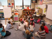 Read aloud daily-A read aloud after lunch in Tammy McFarland's first grade classroom