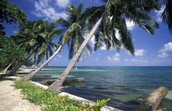 This is one of the beaches in Honduras