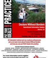 Doctors Without Borders Recruitment Info Session, May 12th