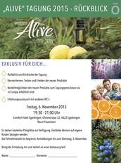 """""""Alive"""" Tagung 2015 - Rückblick!"""