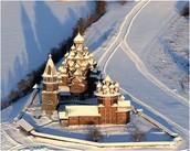 Кижский погост зимой