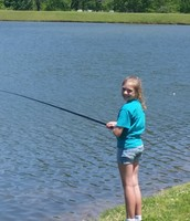 Emma waiting on the perfect fish!