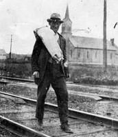Hobos fallowed the train rails
