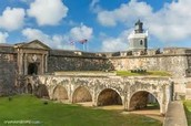 Inside the El Morro Fort.