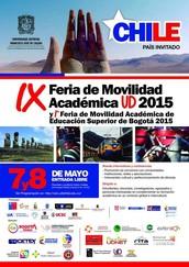 ¡HEY OGCDP! Invitados a la Ferida de Moviliad Internacional Universidad Distrital Francisco José de Caldas, País Invitado Chile