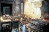 The after math of a kitchen fire