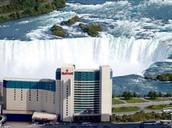 Marriott Hotel overlooking the falls