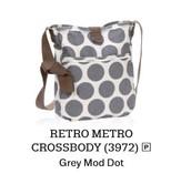 Retro Metro Crossbody - Grey Mod Dot
