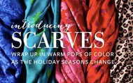 Warm, Colorful Scarves