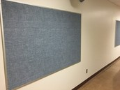 Our new bulletin boards are going up! Pumped to display student work!