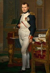 The Emperor Napoleon in His Study by Jacques-Louis David