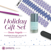 Snow Angels (Junior, $30): 1 sheet of wraps and 1 bottle of lacquer