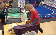 Playing with Pet in the Classroom