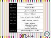 K-2 Schedules