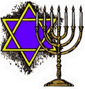 Star of David and Jewish Candlestick