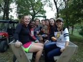 Lovely weather for a hayride together!