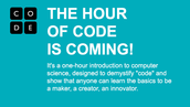 What is Hour of Code, you ask?
