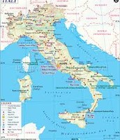 The map of Italy