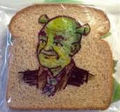 Shrek Sandwich (toothpick optional)