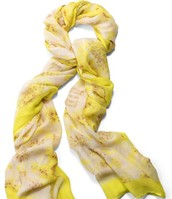 Palm Springs Scarf: citrine floral