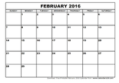 February Dates At A Glance