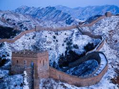 Great Wall of China during winter