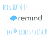 Join the JRCoE T3 Remind Group!