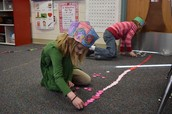 Kindergartners have fun counting and making patterns.
