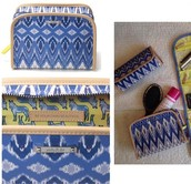 Beauty Bag Indigo Ikat Reg $36 -25% sale $27