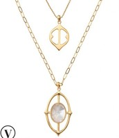 Fortuna Stone Pendant Necklace
